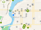The Geocaching smart phone app shows where geocaches are located.
