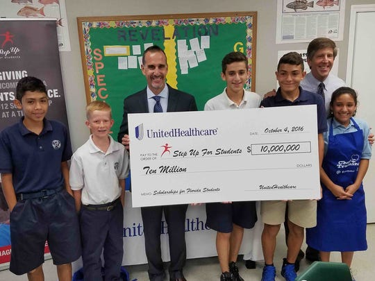 UnitedHealthcare announced it would be donating $10 million to the scholarship fund for Step Up For Students, which helps send kids to private schools and public schools outside their school district.