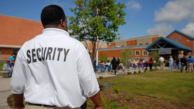 Why not hire returning military as security guards at schools?