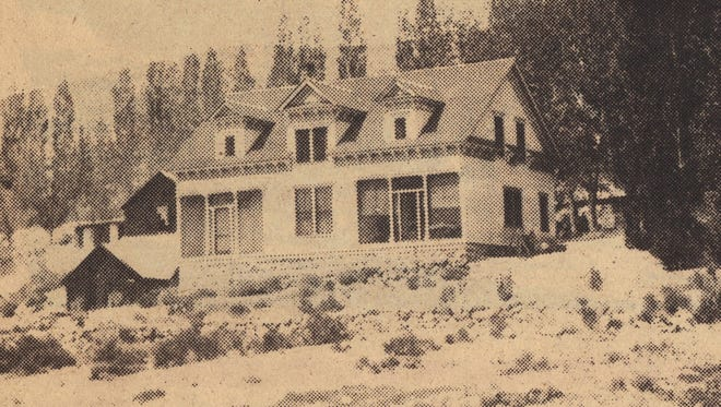 The Nordyke House in Mason Valley is shown as it was in the early 1900s, from a photograph published in the Mason Valley News on Aug. 20, 1976.