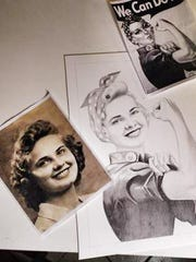 During World War II, Elsie Ledbetter she was one of thousands of women in the American workforce who helped build military aircraft. Local artist Andrea Cano created this drawing of Rosie the Riveter incorporating Ledbetter's face.