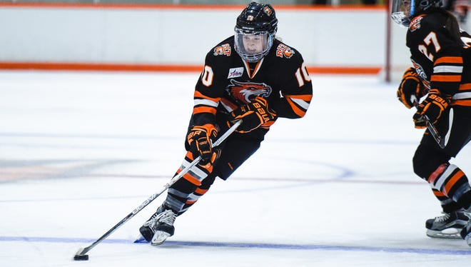 RIT sophomore Kendall Cornine grew up in Kinnelon and played hockey at Morristown-Beard.