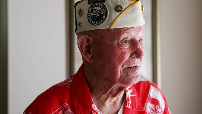 Paul Smith, 95, in his East Naples home on Monday, was serving as a Marine corporal during the Pearl Harbor attack.