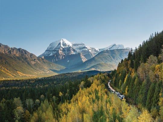 The Canadian Rockies' highest peak, Mount Robson, is