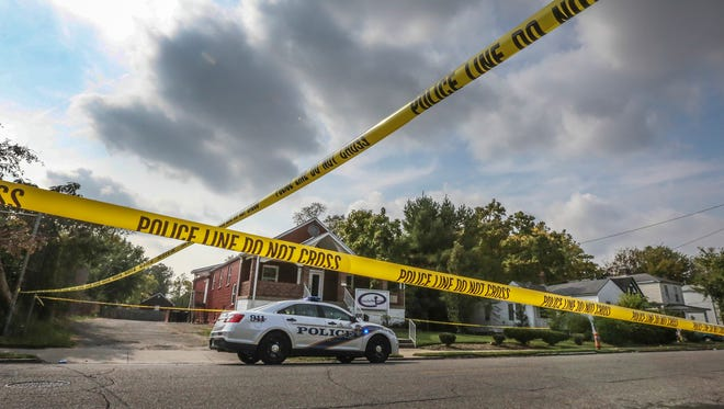 LMPD is investigating Jefferson County's 100 homicide of 2016 after this shooting on Greenwood Avenue on Wednesday morning.October 19, 2016