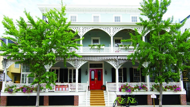 The front of the Virginia Hotel in Cape May.