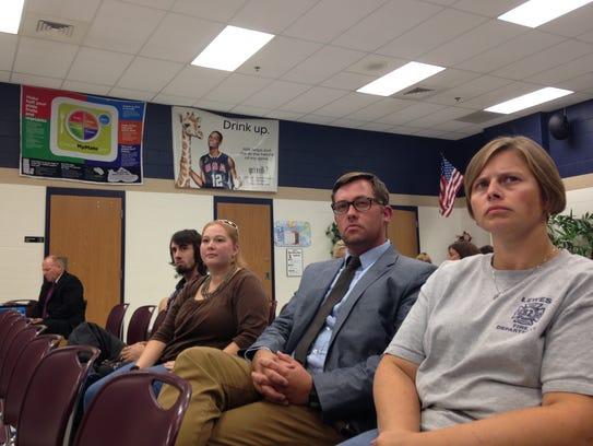 From left: Shields parents Jeremy Ross, Christina