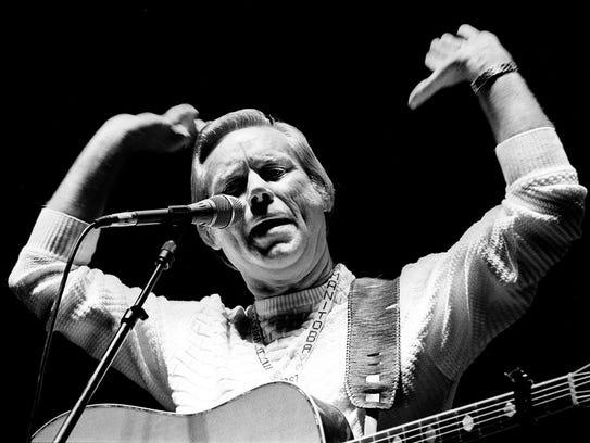 "Country music superstar George Jones lights into ""No"
