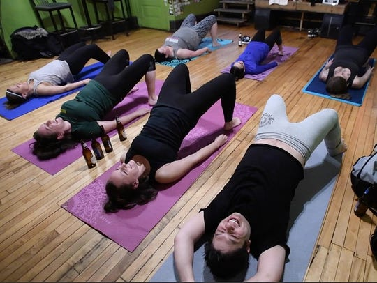 The hardest pose at Sailors Mouth Yoga is the one where