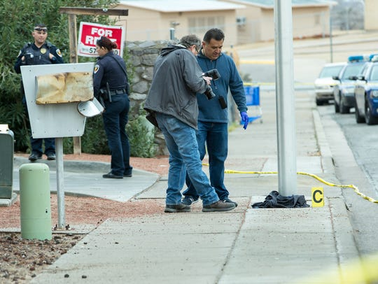 Las Cruces Police investigate a homicide on Saturday,