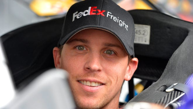 Denny Hamlin says he usually gets part of a song stuck in his head while he's racing.