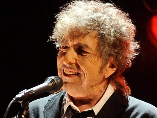 Bob Dylan performs in Los Angeles on Jan. 12, 2012.