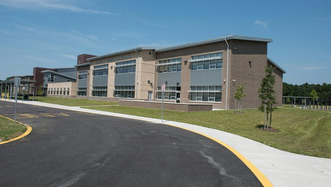 An outside view of the new Bennett Middle School on South Division Street in Fruitland.