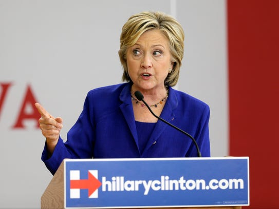 Hillary Clinton speaks during a community forum on