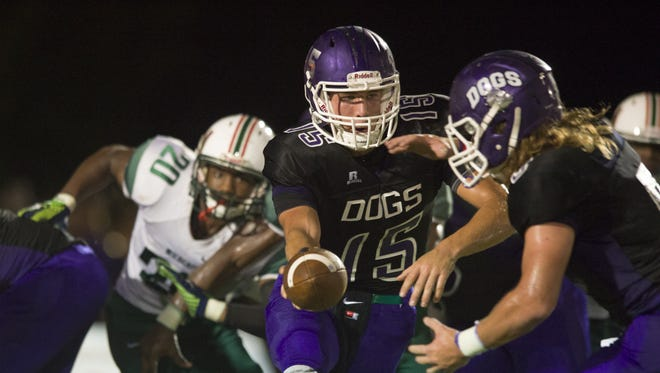 Hunter Johnson (15) and Brownsburg are unbeaten at 7-0, but have a first round date with Ben Davis.