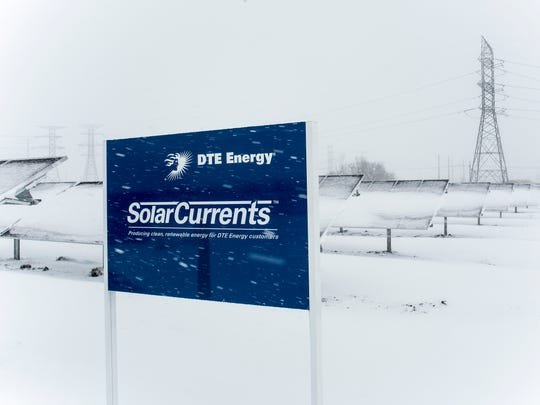 A new 15-acre solar energy facility pictured Feb. 9,