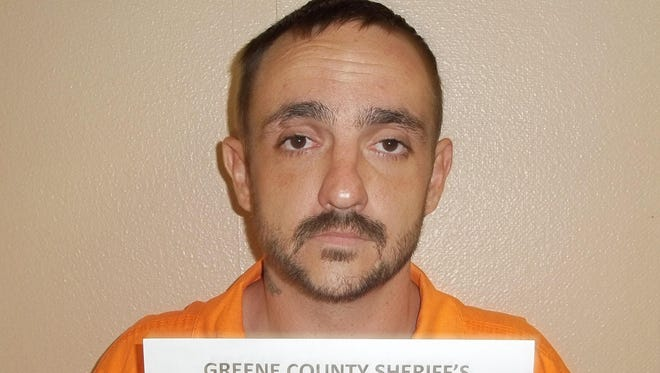 A photo provided by the Greene County Sheriff's Department shows Derrick Dearman, a suspect in Aug. 20 massacre of five adults in Citronelle Ala. Dearman, of Leakesville, Mississippi, will be charged with six counts of capital murder, Mobile County sheriff's spokeswoman Lori Myles said Aug. 21.