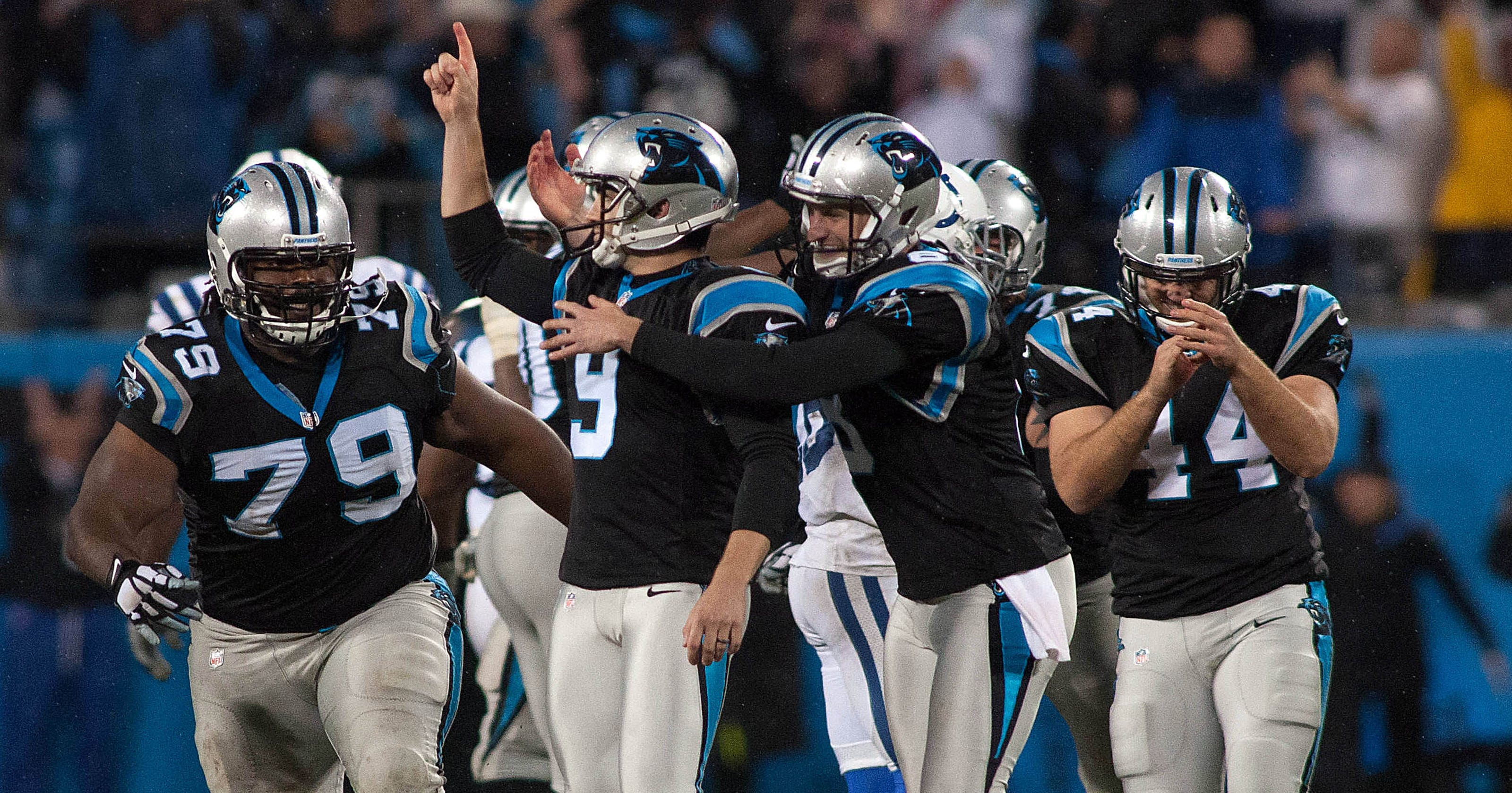 f9e209f74 Graham Gano gets redemption with OT field goal as perfect Panthers outlast  Colts