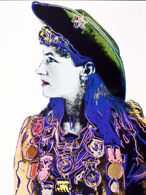 """Andy Warhol's """"Annie Oakley of the Cowboys and Indians Suite"""" is among the pieces in the Rockwell Museum's 40th anniversary exhibit."""