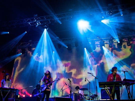 Tame Impala performing in Australia earlier this year.
