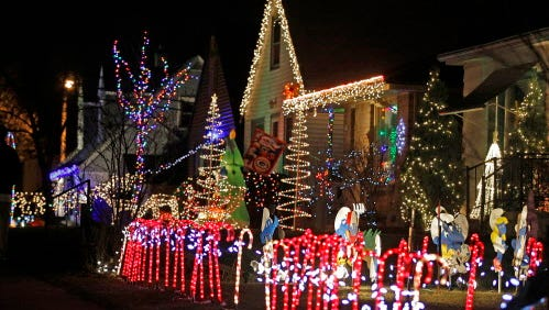 Candy Cane Lane's holiday displays open Nov. 23 in West Allis. Money raised goes to Midwest Athletes Against Childhood Cancer.