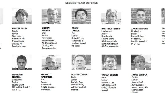 All city/county second team defense