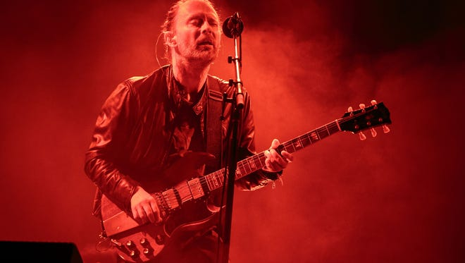 Lead Singer Thom Yorke of Radiohead performs during the Austin City Limits Music Festival at Zilker Park on October 7, 2016 in Austin, Texas.