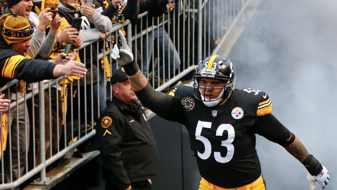 Pittsburgh Steelers center Maurkice Pouncey.