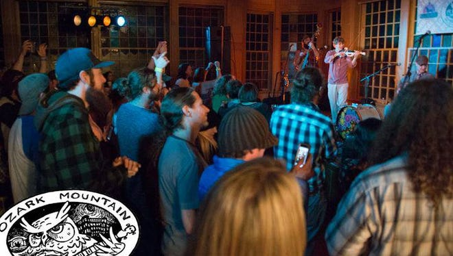 There is a scene from last year's Ozark Mountain Music Festival held in the Basin Park Hotel in Eureka Springs. The hotel has special lodging packages this weekend.