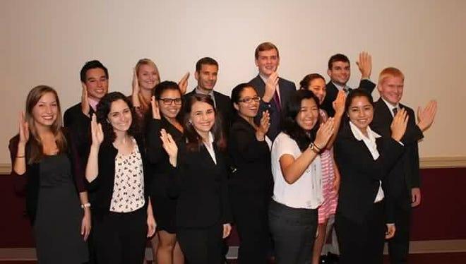 The Professional Fraternity Council includes Delta Sigma Pi, Phi Sigma Pi, Phi Alpha Delta, DECA, Alpha Phi Omega, Alpha Chi Sigma and Alpha Kappa Psi.