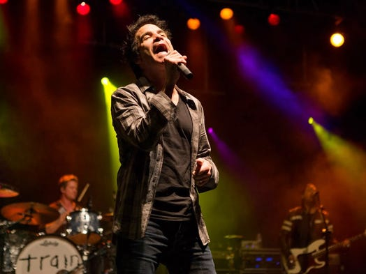 Train performs at Liquid Sol at University of Phoenix Stadium in Glendale on Saturday, March 15, 2014.