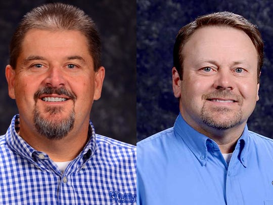Greg Johnson, left, and Jeff Shaw, right, have been promoted to serve as co-presidents of Springfield-based O'Reilly Automotive. They will continue to report to CEO Greg Henslee, who previously also held the title of president.