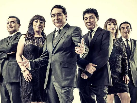 Los Ángeles Azules is a cumbia band from Mexico performing