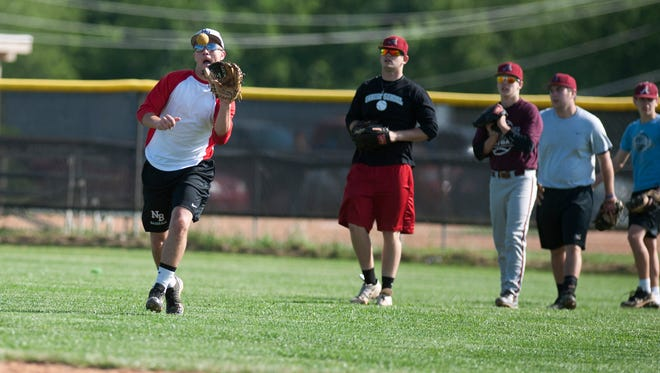 Asheville American Legion Post 70 players take part in practice last year.