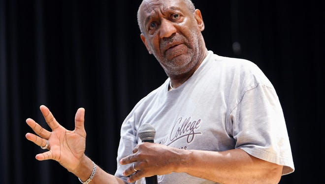 In this April 24, 2008 file photo, Bill Cosby speaks at a forum for at-risk youths in Atlanta.