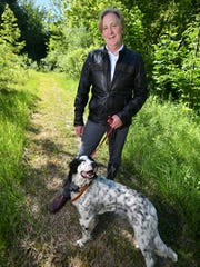 Doug Stanton, with his pointer Princess, grew up and continues to live in Traverse City.