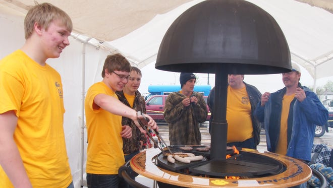 This file photo shows the grill that was created by Campbellsport High School students and Mid-States Aluminum during Project GRILL.