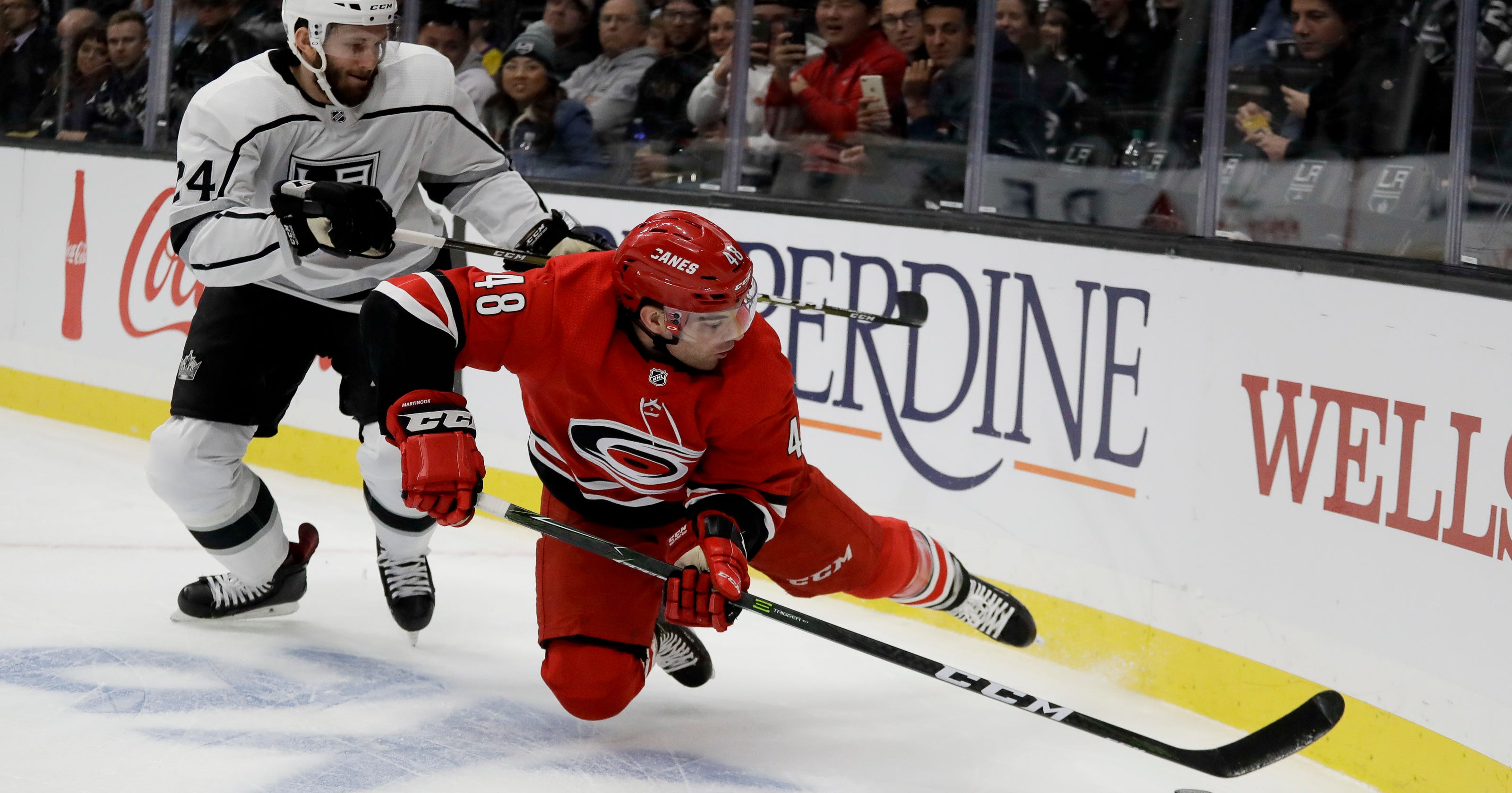 Quick gets 50th shutout in Kings' 2-0 win over Hurricanes