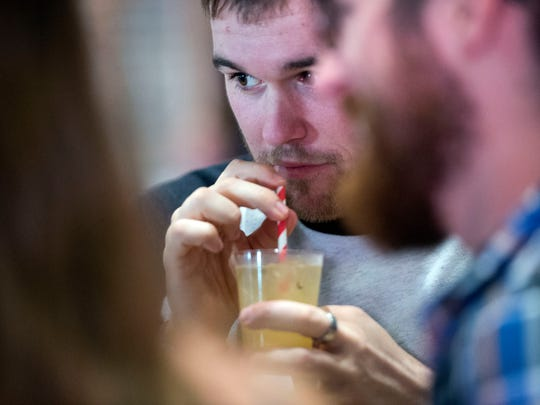 Knox Brewtails patrons sample the signature drinks at the 2017 event. The 2018 competition is scheduled for3-7 p.m. Sunday, Oct. 14,at The Press Room, 730 N. Broadway.