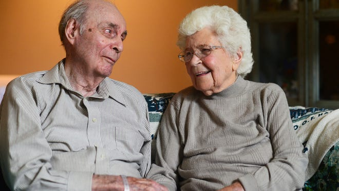 In a June 5, 2018 photo, Ralph and Mary Veon of Chippewa Township bear witness that true love endures. On June 15, they'll celebrate their 78th wedding anniversary. And both will reach another milestone in a few months; turning 100.