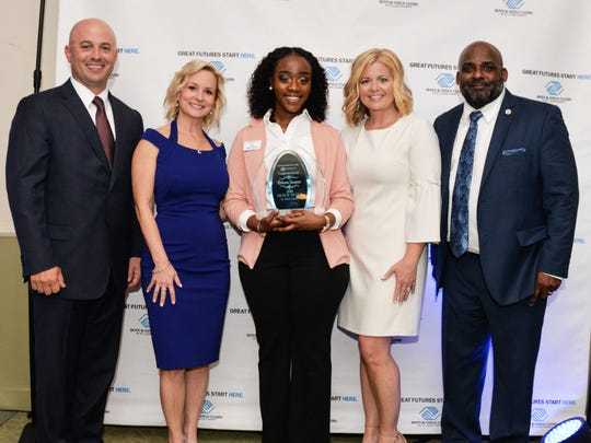 St. Lucie County Boys & Girls Clubs board members Richard Del Toro, left, Leslie Kristoff, 2018 Youth of Year Rebecca Jacques, Sarah Pride and Will Armstead, CEO of Boys & Girls Clubs.
