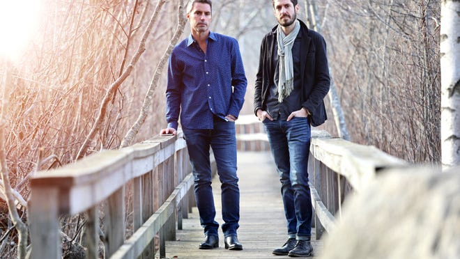 "Chris Langathianos, left, and Joe Wilkins won first prize for their song ""Your Town"" in the Eventide Theatre Company's 2020 New England Songwriters Competition."