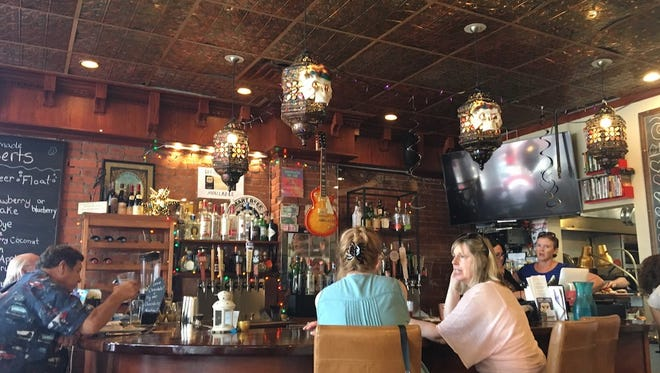 Cozy up to the bar at Rock Da Casbah in Saugerties.