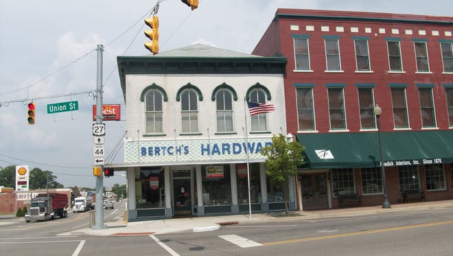 Bertch's Hardware in Liberty, Ind., is shown in this photo from 2013.