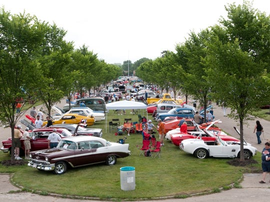 Cars on display during the 2017 Cars 'R' Stars auto show at the historic Packard proving grounds in Shelby Township.