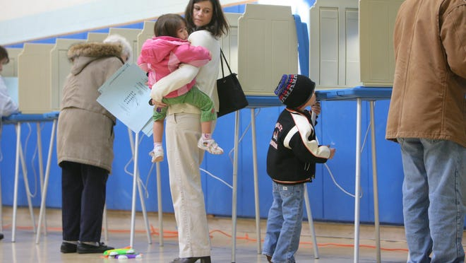 Voters cast ballots in South Kingstown in 2008.