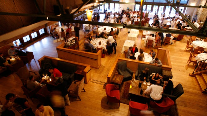 Inside the main dining romo at Harvest on Hudson in Hastings. The lohudfood festival on April 26 is rain or shine.