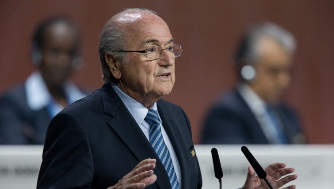 FIFA President Joseph S. Blatter gives a speech during the 65th FIFA Congress at Hallenstadion on May 29, 2015 in Zurich, Switzerland.