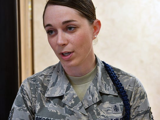 TSgt Katelynn Brooks enjoys helping young airmen-in-training