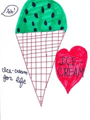If I could change anything in the world, it would be for every little girl and boy to get free ice cream for life. And I would make it happen by setting up a fundraiser. Then every kid would get free ice cream for life.  Carly Brown  Grade 3, St. Benedict Cathedral School